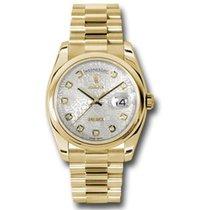 Rolex Day-Date 36 Oro amarillo 36mm Plata
