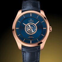 Omega De Ville Central Tourbillon Rose gold 44mm Blue No numerals