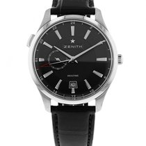 Zenith Steel Automatic Black 40mm new Elite Dual Time