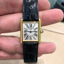 Cartier Tank Vermeil Silver 23mm White Roman numerals United States of America, New York, Scarsdale