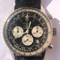 Breitling Navitimer gebraucht 41mm Schwarz Chronograph Datum Leder