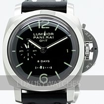 Panerai Luminor 1950 8 Days GMT Zeljezo 44mm Crn