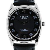 Rolex Cellini Danaos 4233 18k  Gold Mens Wristwatch on Leather