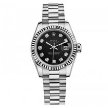 Rolex Lady-Datejust President 18K White Gold Diamonds Automatic