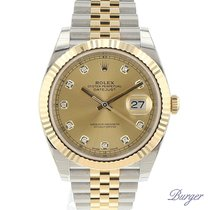 Rolex Datejust 41 Rolesor Yellow Fluted / Jubilee / Champagne...