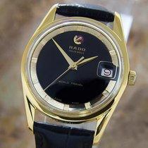 Rado World Travel Rare Swiss Made 1960s Mens Automatic Gold...