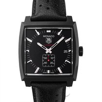 タグ・ホイヤー (TAG Heuer) Monaco Calibre 6 Black Steel/Leather -...