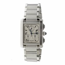 Cartier Tank Francaise 2303 Swiss Quartz Chronograph Stainless...
