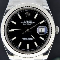 Rolex Datejust 41MM Steel Black Dial 'Fluted Bezel' Full Set
