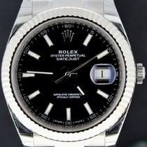 Rolex Datejust 41MM Steel Black Dial 'Fluted Bezel' Full Set