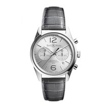 Bell & Ross Vintage Officer Silver Dial Stainless Steel Grey...
