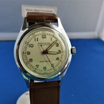 Military Style Fontaine 17j Mechanical Wind Vintage  Swiss...