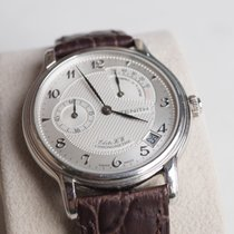 Zenith Platinum Manual winding Silver Arabic numerals 36mm pre-owned Elite Power Reserve