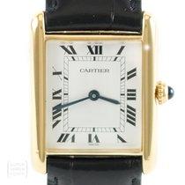 f370a10edd1 Cartier Uhr Tank Vermeil Unisex Quarz 925er Silber vergoldet.