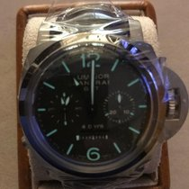 Panerai Luminor 1950 8 Days Chrono Monopulsante GMT Titanium 44mm Brown Arabic numerals