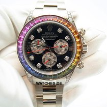 Rolex 116599RBOW Or blanc Daytona 40mm occasion