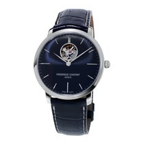 Frederique Constant Slimline Heart Beat Automatic Steel 40mm Blue No numerals
