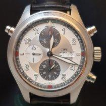 IWC Pilot Double Chronograph Acciaio 44mm Argento Arabo Italia, TORINO