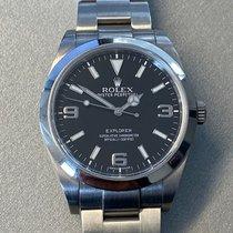 Rolex Explorer Stahl 39mm Schwarz Arabisch Deutschland, Essen
