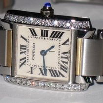 Cartier Tank Française Gold/Steel 20mm Silver Roman numerals United States of America, New York, NEW YORK CITY