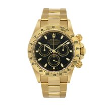 Rolex Yellow gold Automatic Black No numerals 40mm pre-owned Daytona