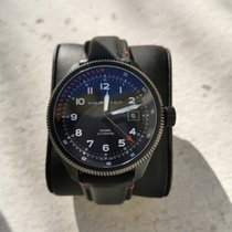 Hamilton Khaki Aviation occasion Noir Date Cuir