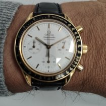 Omega Oro amarillo Automático Blanco Sin cifras 37mm usados Speedmaster Reduced