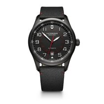 Victorinox Swiss Army Airboss black dial, textile bracelet, date