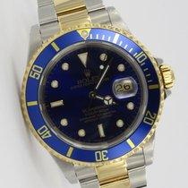 Rolex Submariner Blau Two Tone Stahl / Gold 16613