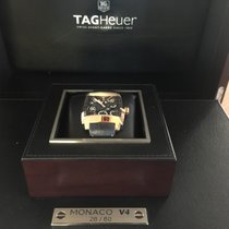 TAG Heuer Monaco V4 Rose gold 41mm Black No numerals
