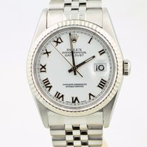 Rolex Datejust Stainless Steel White Roman Dial 16234