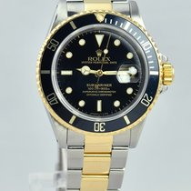 Rolex Submariner Date Two Tone 18kt YG/SS - 16613