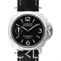 沛纳海  Luminor Marina 8 Days Acciaio Black Steel/Leather - PAM00510