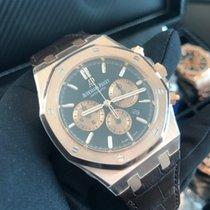 Audemars Piguet Royal Oak Chronograph Rose gold 41mm Brown No numerals