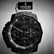 Corum Platinum Automatic Black Roman numerals 50mm new Admiral's Cup Seafender 50 Chrono LHS