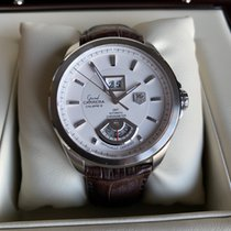TAG Heuer Grand Carrera Staal 42.5mm Wit Geen cijfers
