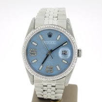 Rolex Datejust pre-owned 36mm Blue Date Steel