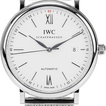 IWC Steel Automatic Silver Roman numerals 40mm new Portofino Automatic