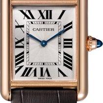 Cartier Rose gold Manual winding Silver Roman numerals 33mm new Tank Louis Cartier