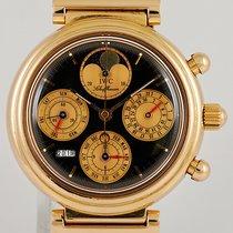 IWC Rose gold Automatic 39mm pre-owned Da Vinci Perpetual Calendar