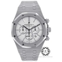 Audemars Piguet Royal Oak Chronograph Acero 41mm Plata Sin cifras