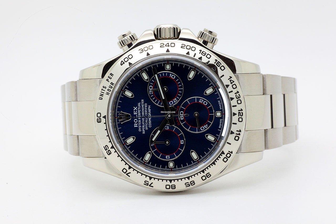 nuovo arrivo 41fb8 6b425 Rolex Daytona White Gold Oro Bianco Blue Dial Ser. Z