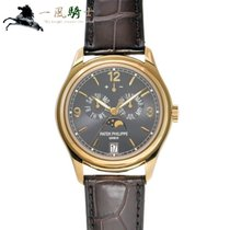 Patek Philippe Yellow gold Automatic Grey 39mm pre-owned Annual Calendar