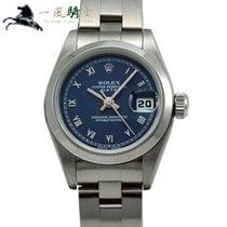 Rolex Oyster Perpetual Lady Date Stal 24mm Niebieski