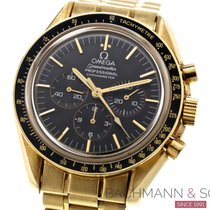 Omega Yellow gold Manual winding Black No numerals 41mm pre-owned Speedmaster Professional Moonwatch