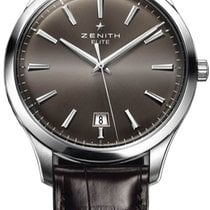 Zenith Captain Central Second Steel 43mm Silver United States of America, New York, Brooklyn