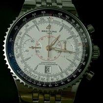 Breitling Montbrillant Legende 47mm White Dial Stainless Steel