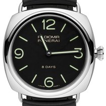 Panerai Radiomir 8 Days 45mm Black Dial Leather Stainless...