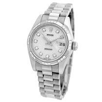 Rolex 18K White Gold 26mm Factory Diamond President 179179 Box...