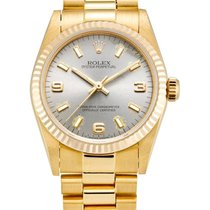 Rolex , Yellow Gold Wristwatch With Bracelet And Date, Oyster...